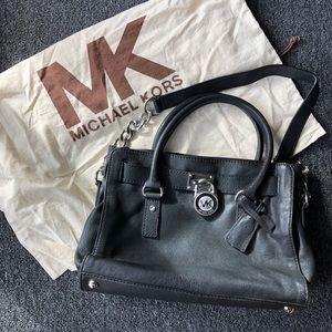 Authentic Michael Kors Handbag (Black Leather)